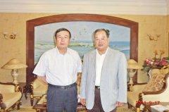 全国政协副主席、全国工商联主席黄孟复亲切接见飞速直播吧nba火箭教授